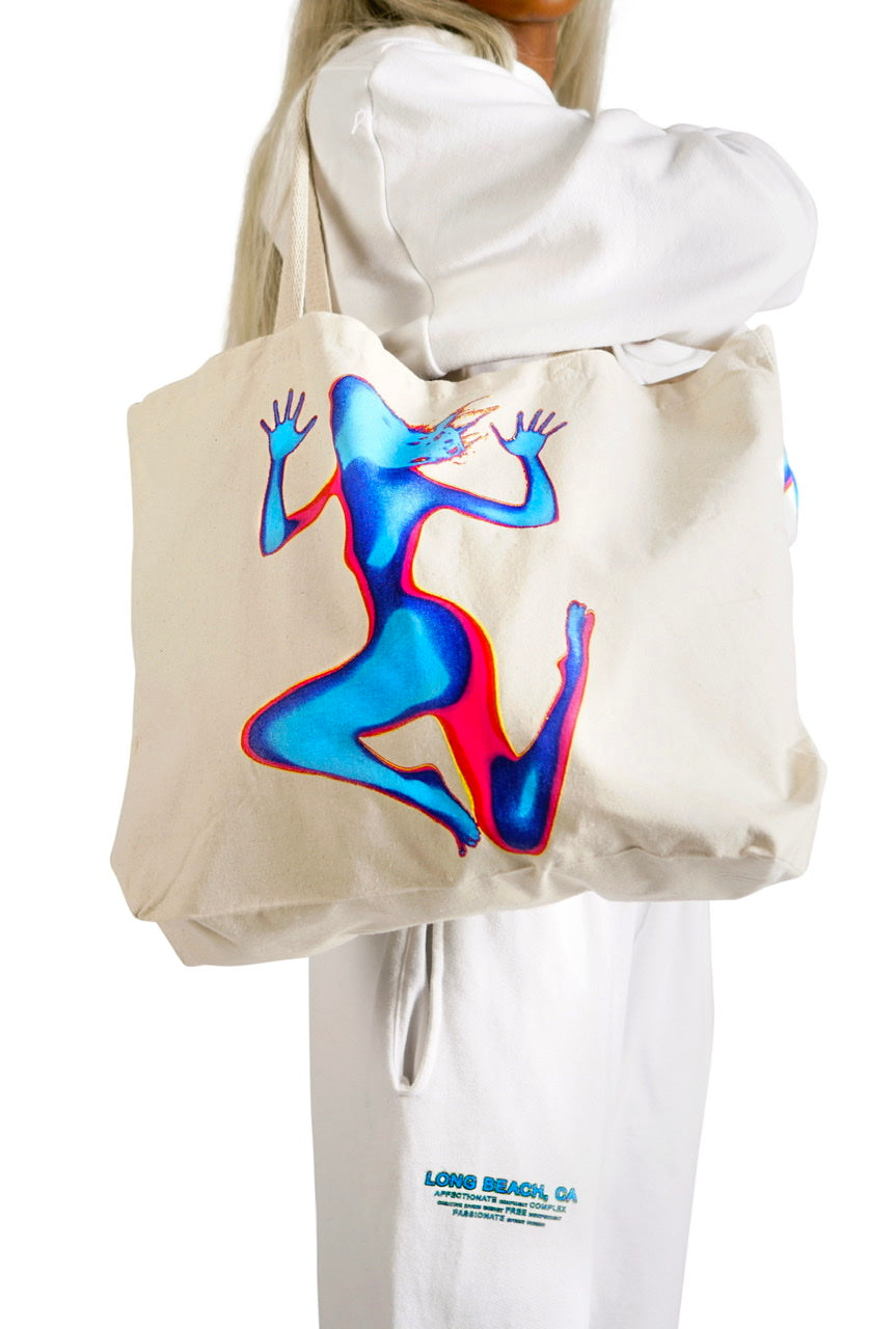 FEMALIEN WHITE TOTE BAG