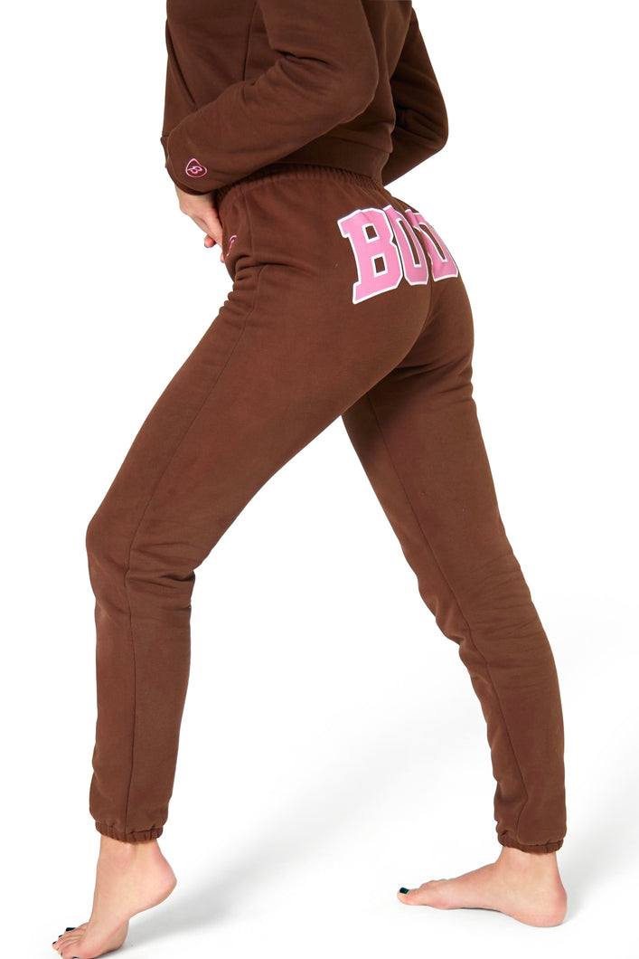 BACKSHOT SWEATPANTS BROWN/PINK