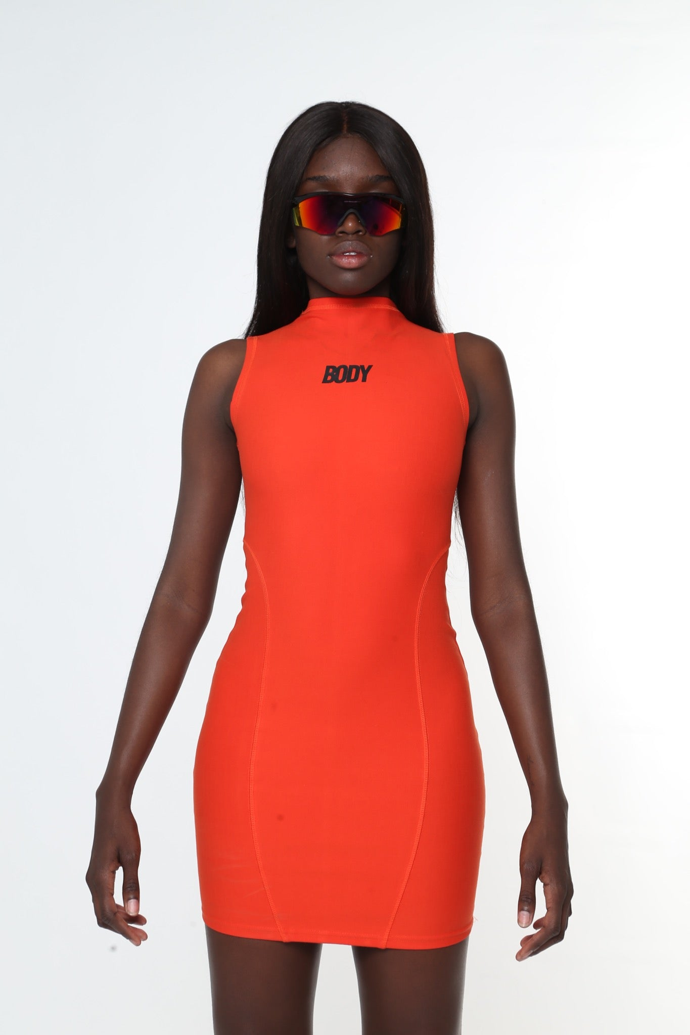 OH ORANGE SLEEVELESS DRESS