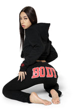 BACKSHOT HOODIE - BLACK/RED