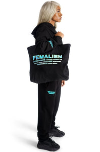 FEMALIEN BLACK TOTE BAG