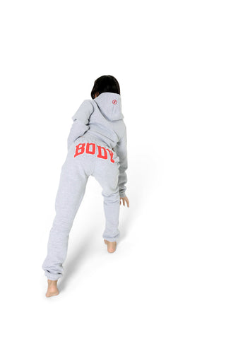 BACKSHOT HOODIE (GREY/RED)