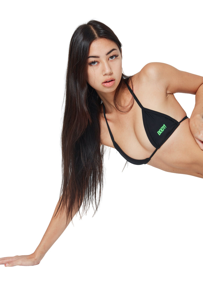 ITTY BITTY MICRO MINI TOP - BLACK/GREEN