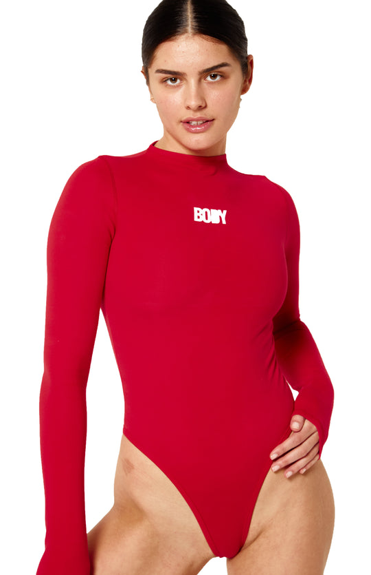 Exact Product: BODY LOVE BODYSUIT (RED), Brand: Body-By-Raven-Tracy, Available on: bodybyraventracy.com