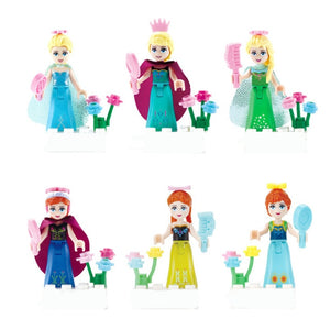 Kit com as princesas da Disney - Compatível com Lego