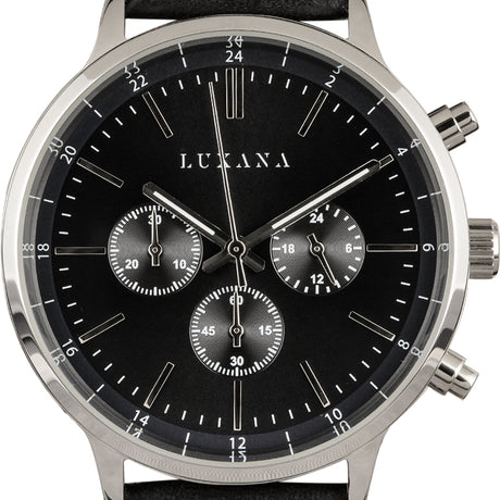 Luxana Watches Black Dial