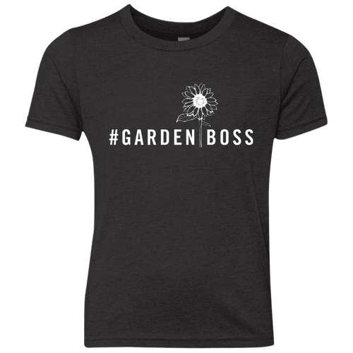 #GARDENBOSS Sunflower Youth Triblend Crew