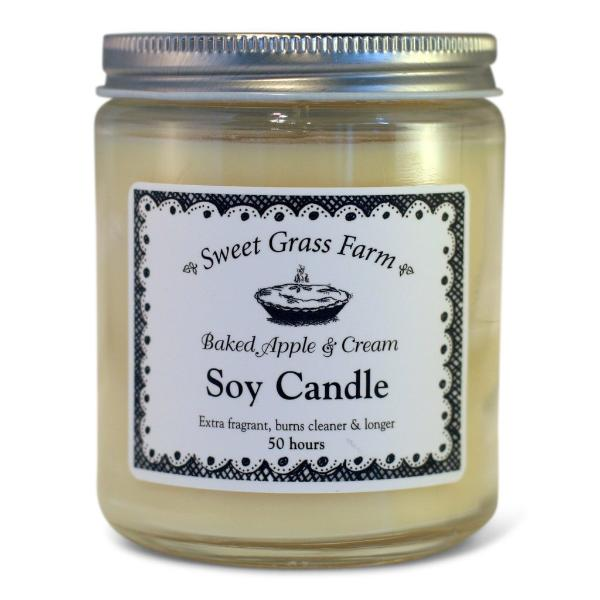 Baked Apple & Cream Soy Candle