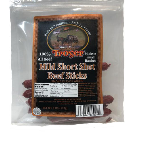 Mild Short Shot Beef Sticks