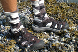 Polar Feet Fleece Socks in Snow Camo Regular Sole v1