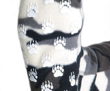 Polar Feet Fleece Socks in Snow Camo Nonskid Sole