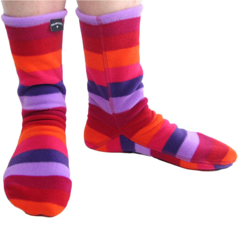 Polar Feet Fleece Socks in Jellybean Regular Sole v2