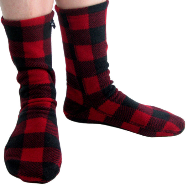 Polar Feet Fleece Socks in Lumberjack Regular Sole v2