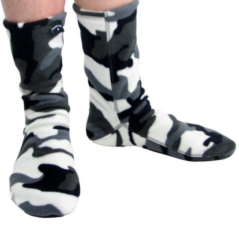 Polar Feet Fleece Socks in Snow Camo Regular Sole v2