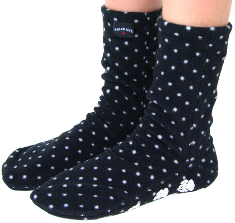 Kids' Nonskid Fleece Socks - Domino