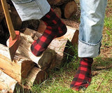 Polar Feet Fleece Socks in Lumberjack Regular Sole v1