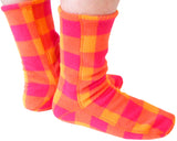 Polar Feet® Fleece Socks Raspberry Sunrise
