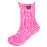 Polar Feet Fleece Socks in Pink Gingham single view