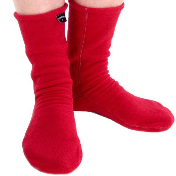Polar Feet® Fleece Socks Red