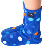 Kids' Nonskid Fleece Socks - Big City Blues