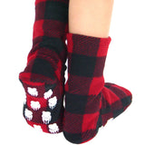 Kids' Nonskid Fleece Socks - Lumberjack