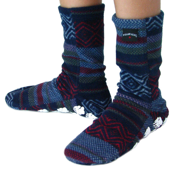 Kids' Nonskid Fleece Socks - Nordic
