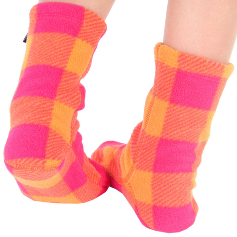 Polar Feet Kids Fleece Socks - Raspberry Sunrise