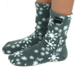 Kids' Nonskid Fleece Socks - Snowflake