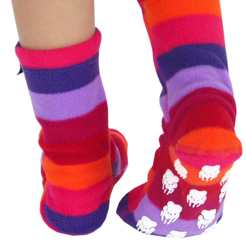 Kids' Nonskid Fleece Socks - Jelly Bean