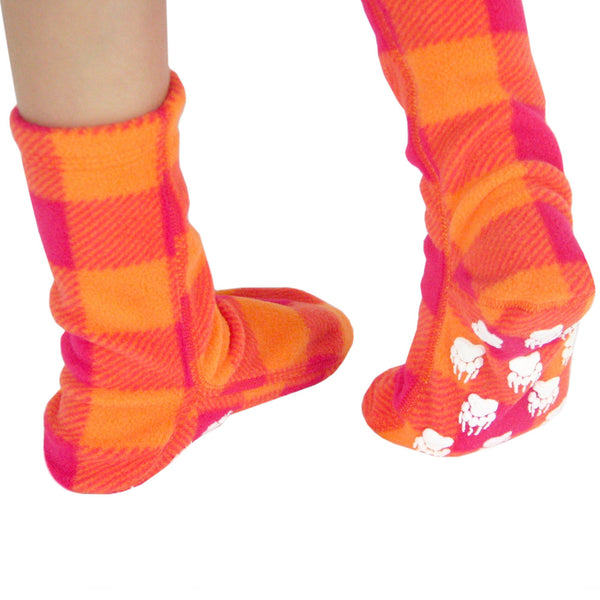 Kids' Nonskid Fleece Socks - Raspberry Sunrise