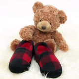 Polar Feet Kids' Perfect Mocs in Lumberjack with Teddy