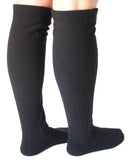 Over The Knee Fleece Socks - Black