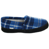 Polar Feet Men's Perfect Mocs in Blue Flannel Side