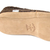 Polar Feet Men's Perfect Mocs in Coffee with real suede soles