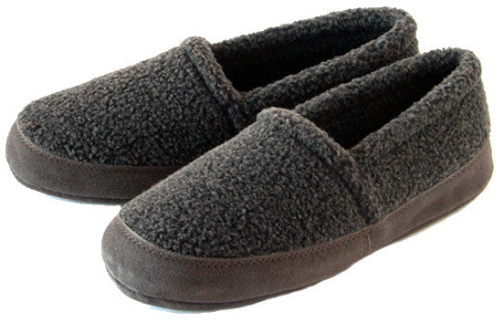 Polar Feet Men's Perfect Mocs in Grey Berber