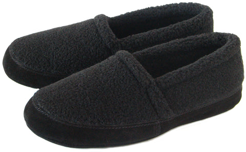 Polar Feet Men's Perfect Mocs in Black Berber