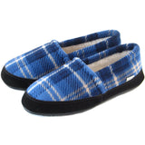 Polar Feet Mens Perfect Mocs in Blue Flannel