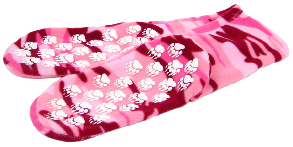 Polar Feet Fleece Socks - Pink Camo