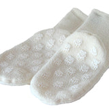 Polar Feet White Berber Fleece Socks with Nonskid Sole