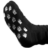 Polar Feet Fleece Socks Solid Black with Nonskid