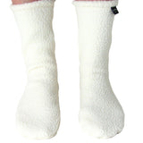 Polar Feet White Berber Fleece Socks Front View