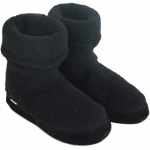 Polar Feet Women's Snugs Slippers in Black Berber