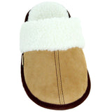 Polar Feet Women's Fine Suede Scuffs Front View