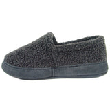 Polar Feet Women's Perfect Mocs in Grey Berber Left Side