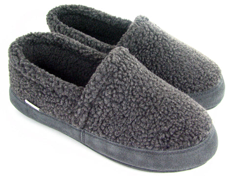 Polar Feet Women's Perfect Mocs in Grey Berber