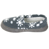 Polar Feet Women's Perfect Mocs in Snowflake Left Side