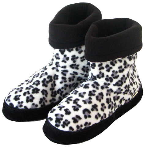Polar Feet® Women's Snugs™ Snow Leopard