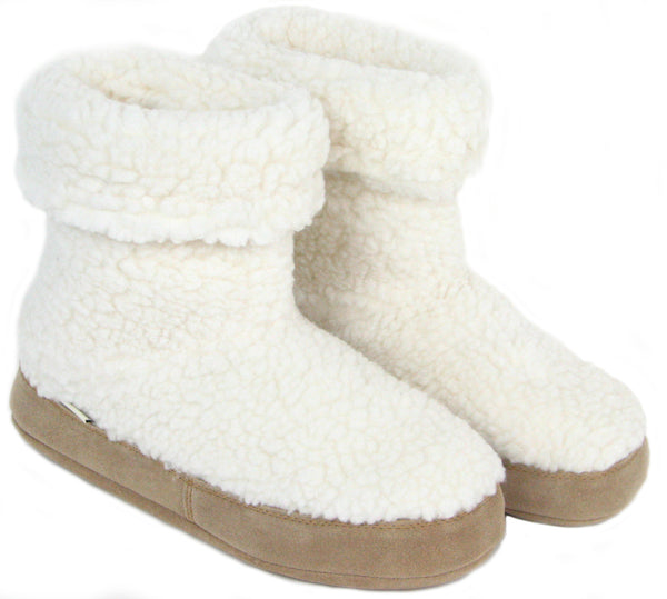 Polar Feet Women's Snugs - White Berber