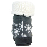 Polar Feet Women's Snugs Slippers Snowflake back view