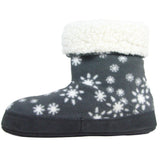 Polar Feet Women's Snugs Slippers Snowflake side view 2